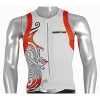 Ironman Mens Tri Top - White/Orange