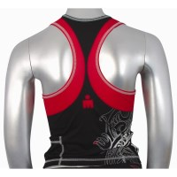 Ironman Womens Tri Top - Black/Red