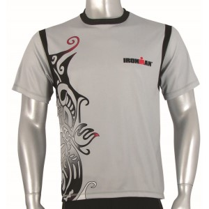 Ironman Cool Max Unisex Running Shirt - Silver/Black