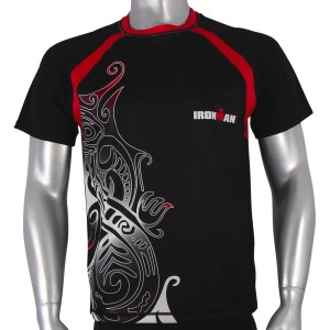 Ironman Cool Max Unisex Running Shirt - Black/Red