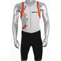 Ironman Mens Tri Suit - White/Orange